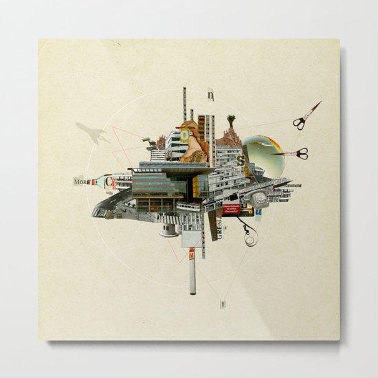 Collage City Mix 4 Metal Print