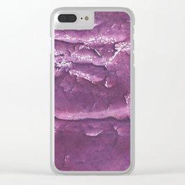 Dark purple painting Clear iPhone Case