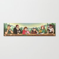 gravity falls Canvas Prints featuring Gravity Falls Tea Party by rampaigehalsey