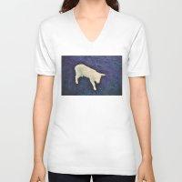 lamb V-neck T-shirts featuring Lamb by Richard PJ Lambert