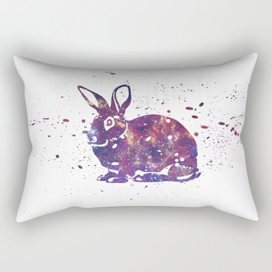 Bunny Galaxy Rectangular Pillow
