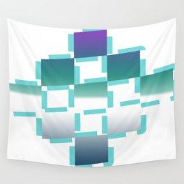 blue white purple rhombus Wall Tapestry