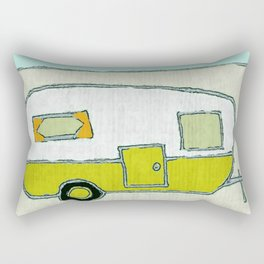 camping art, camping artwork, camping, outdoor art, outdoors, outdoor artwork, mountains, mountain a Rectangular Pillow