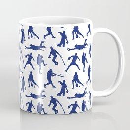 Blue Baseball Players Coffee Mug
