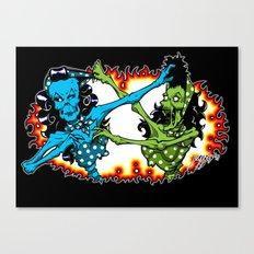 Psychobilly Catfight Canvas Print