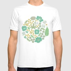 Floral Bloom  MEDIUM Mens Fitted Tee White