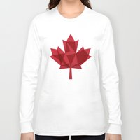 canada Long Sleeve T-shirts featuring O Canada by Fimbis