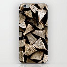firewood pattern iPhone Skin