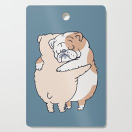 English Bulldog Hugs Cutting Board