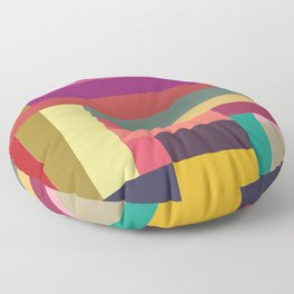 Color Rods 4 Floor Pillow