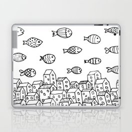 Underwater village Laptop & iPad Skin