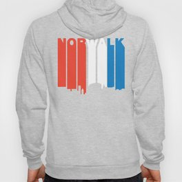 Red White And Blue Norwalk Connecticut Skyline Hoody