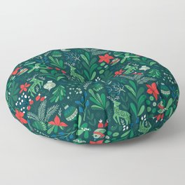 Merry Christmas pattern Floor Pillow