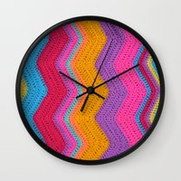 funky Wall Clocks featuring Funky by Wild Daffodil