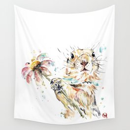 Gopher Colorful Watercolor Painting Wall Tapestry