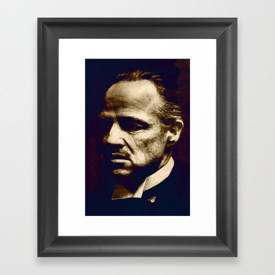 Godfather - I will make him an offer he can't refuse Framed Art Print