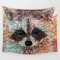 kit king Wall Tapestries featuring Kit by Col Mitchell Paper Artist