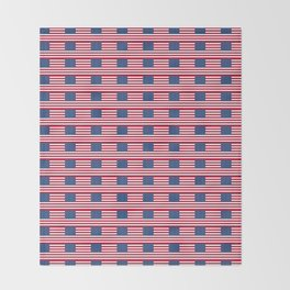 american flag2-Usa,america,united states,us,stars and strips,patriotic,patriot,star spangled banner Throw Blanket
