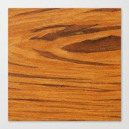 Teak Wood Canvas Print