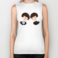 tegan and sara Biker Tanks featuring Tegan and Sara by Christina Abigail