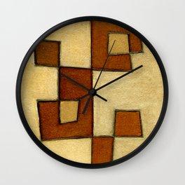 Protoglifo 01 'brown yell' Wall Clock