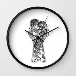 Love on a pedestal Wall Clock