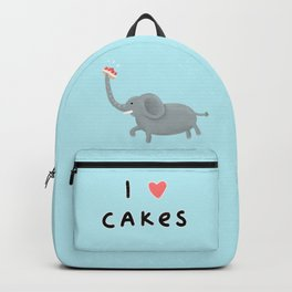 Elephant Loves Cakes Backpack