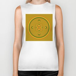 70s Circle Designs - Orange, Brown, Green Biker Tank