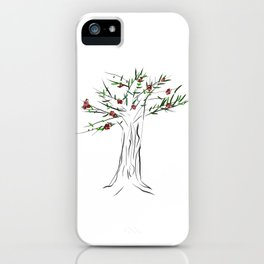Tree with roses iPhone Case