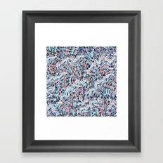black topography Framed Art Print