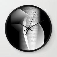 data Wall Clocks featuring Data script 1 by dominiquelandau