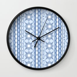 Kitty in a Blue Shoe Lace Wall Clock