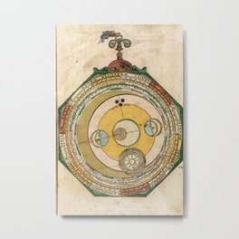 Peter Apian - Astronomicum Caesareum 1540 - Plate 14 The Course of the Moon Metal Print