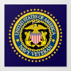 US Navy Veteran Canvas Print