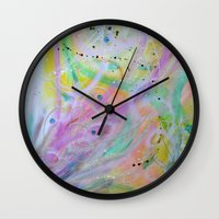 nursery Wall Clocks featuring Star Nursery by Duende As Art