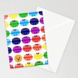 surprising macaron pattern Stationery Cards