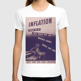 Vintage poster - Inflation T-shirt