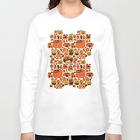 pumpkin Long Sleeve T-shirts featuring Pumpkin Pattern by Chris Piascik