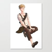 maze runner Canvas Prints featuring Newt from Maze Runner Trilogy by RA army