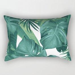 Tropical Summer Jungle Leaves Dream #2 #tropical #decor #art #society6 Rectangular Pillow