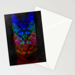 Hipster Cat Art Stationery Cards