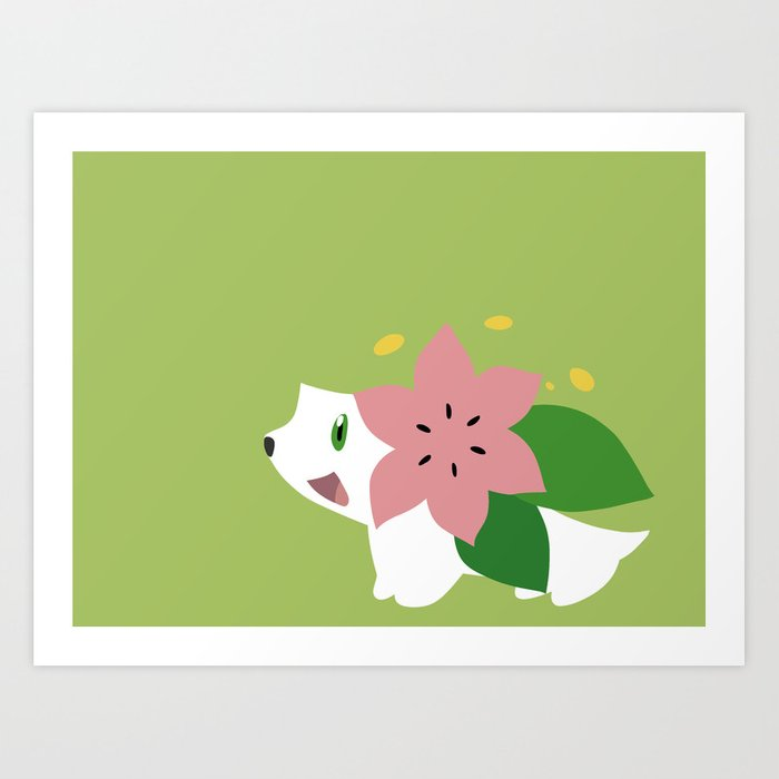 shaymin art print by rebekhaart society6