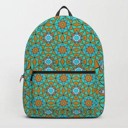 Moroccan Tile 1A - Blue Backpack