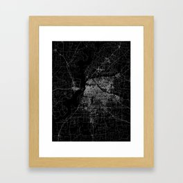 Memphis map Framed Art Print