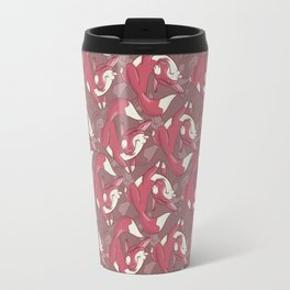 The quick brown fox jumps over… Travel Mug