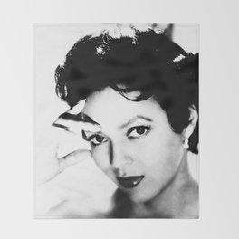 dorothy dandridge black & white photo Throw Blanket
