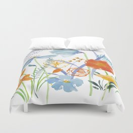 Watercolor Collage Duvet Cover