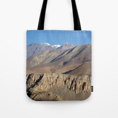 Scenery from Road to Jomsom Tote Bag