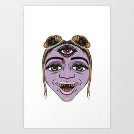 Third Eyed Witch Art Print