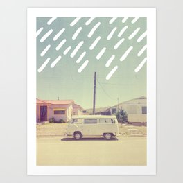 White Van, New Mexico Art Print